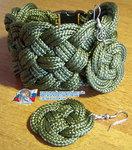 Кельтский браслет и серьги - комплект №1