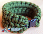Brutal bracelet for a real man! from British Army paracord - olive military