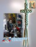 Нательный крест из паракорда 3х5,5 см