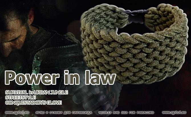 Survival bracelet Conquistador's glove