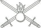 Малая эмблема сухопутных войск России
